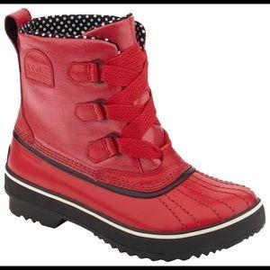Sorel Tivoli Red Duck Waterproof Rain Boots sz 9